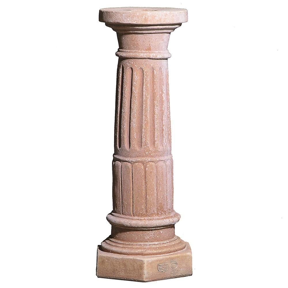 Colonna scanalata. Adatta per impieghi singoli, decorativi e arredi classici. Realizzato a mano da maestri artigiani con argilla di Impruneta, resistente al gelo.