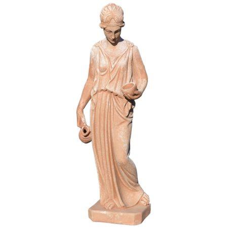 Ebe - Antonio Canova. Statua classica. Realizzato in unica dimensione. Modellazione realizzata in alto rilievo. Realizzato a mano da maestri artigiani con argilla di Impruneta, resistente al gelo.