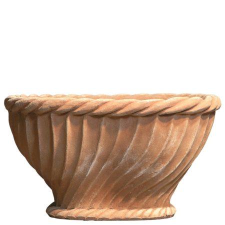Paniera quadrata. vaso per piante. Adatto in ambienti e arredi classici o storici. Realizzato a mano da maestri artigiani con argilla di Impruneta, resistente al gelo.
