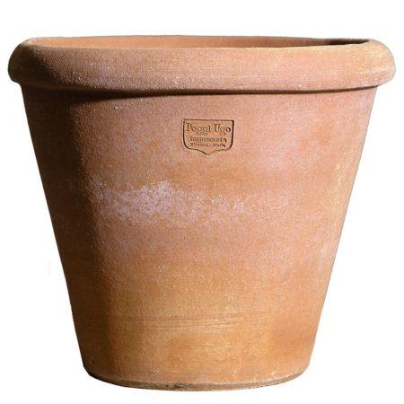 Vasetto per fiori, piante aromatiche, portapenne, portamestoli. Per terrazzo e cucina, mensole, o da appendere. Fatto a mano da maestri artigiani con argilla di Impruneta, resistente al gelo.