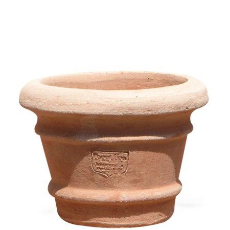 Vasetto orlini (set n.10 pz./pcs./stk.). Vaso per piante. La forma tronco conica di proporzioni studiate, rende il vaso di eccellente armonia estetica. Realizzato a mano da maestri artigiani con argilla di Impruneta, resistente al gelo.