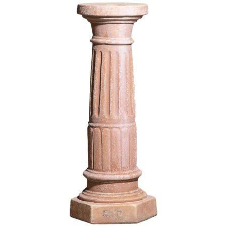 Colonna scalanata. Piedistallo utilizzato per esaltare statue o busti. Modellazione realizzata in alto rilievo. Fatta a mano, resistente a gelo. Realizzato a mano da maestri artigiani con argilla di Impruneta, resistente al gelo.